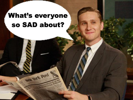 "Too fitting.  Found it through Mad Men's Aaron Staton on Ken Cosgrove and the Season Closer: The Stream: GQ on TV: GQ.   Season 5 of Mad Men has ended, not with a bang, but with a particularly evocative James Bond theme song. ""You only live twice,"" Nancy Sinatra crooned as the characters embraced their new lives: Don as reluctant starmaker, Peggy as powerful executive, Roger as enlightenment-seeker, Joan as captain of the Sterling Cooper Draper Pryce ship, and Pete as a man who has finally seen his own shadow. Ken Cosgrove (played by Aaron Staton) was far ahead of everyone, having already changed identities when he dropped one pen name (science fiction writer Ben Hargrove) for another (Cheever-esque storyteller, Dave Algonquin). Throughout the season, Ken has seemed impervious to the tide of darkness engulfing his coworkers. He loves his wife; he vents his frustrations through a secret short story-writing career; and he doesn't have any weapons ominously stashed in his office. Yet he still managed to make one of the season's more cutthroat power plays, eliminating longtime rival Pete Campbell from a potential account in one deft, spontaneous move. In a conversation with GQ, Staton shared his thoughts on the Season 5 finale, pondered whether Ken is secretly the office feminist, and confessed that he's still haunted by seeing one of his castmates play dead. Read More http://www.gq.com/entertainment/tv/blogs/the-stream/2012/06/mad-mens-aaron-staton-on-ken-cosgrove-and-the-season-closer-interview.html#ixzz1zmZLqDZJ"