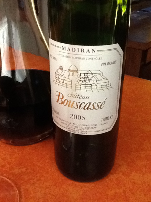 "Saturday Night Wine of the Week 2005 Chateau Bouscasse Madiran ""Alain Brumont"", France Whoa, big red!"