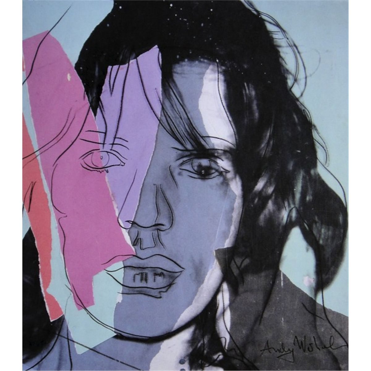 """Mick"" by Andy Warhol (1975)"