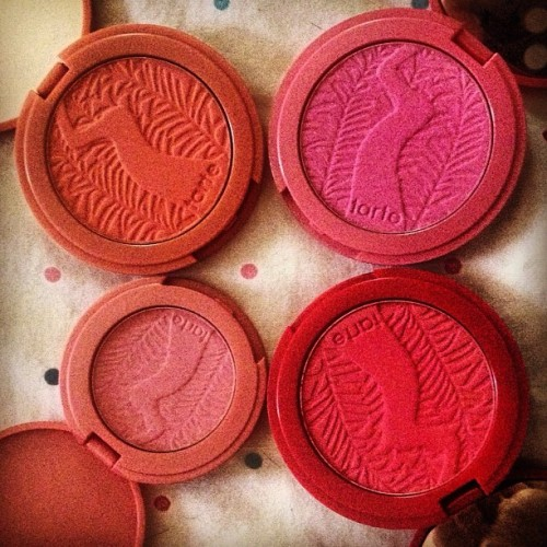 livithelife:  #makeup #makeupproblems #makeupgirlproblems #amazonianclayblushes #blush #shopaholic #tarte (Taken with instagram)  Lusting