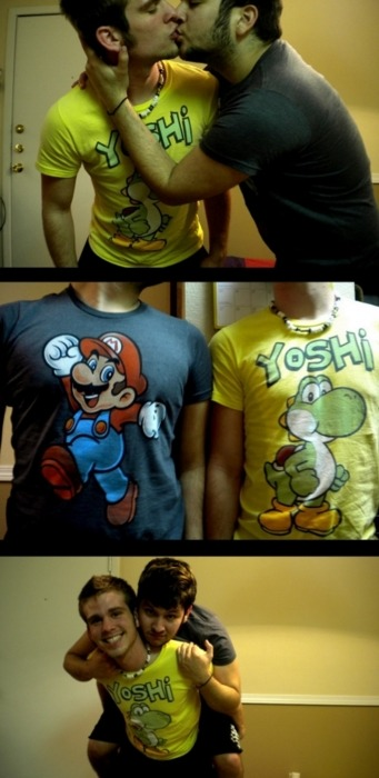 Cutest thing ever. Hopefully, I find someone I can be dorky with like these two. :3 —GD