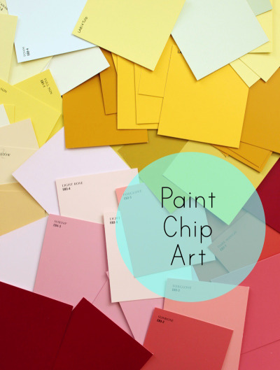 Wall Art with Paint Swatches