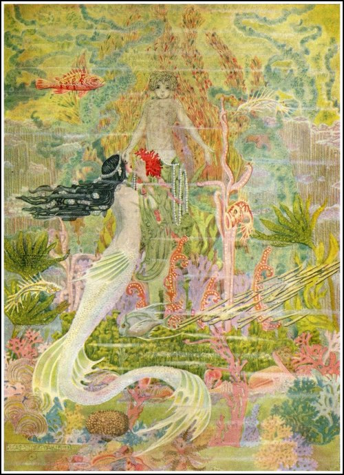 "fairytalemood:  ""The Mermaid"" by Dugald Stewart Walker (1923)"