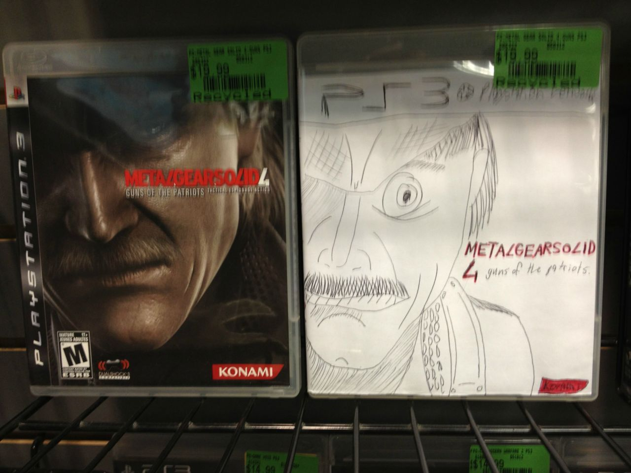 medicinaldog:  exoticfoxholes:  mikeheartu:  What my local EB Games does when they receive a used game with no cover  a beautiful masterpiece  the greatest  Spot on.