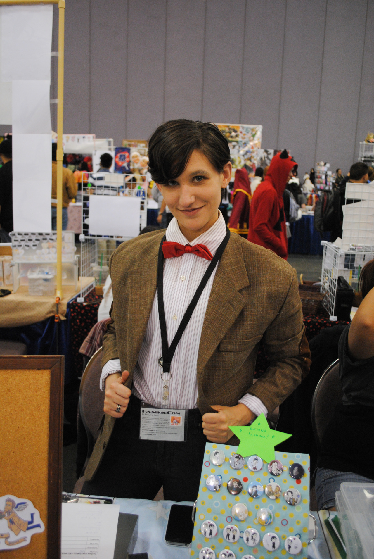 copperbettas:  This girl seriously looked like a female version of the doctor, it was amazing.