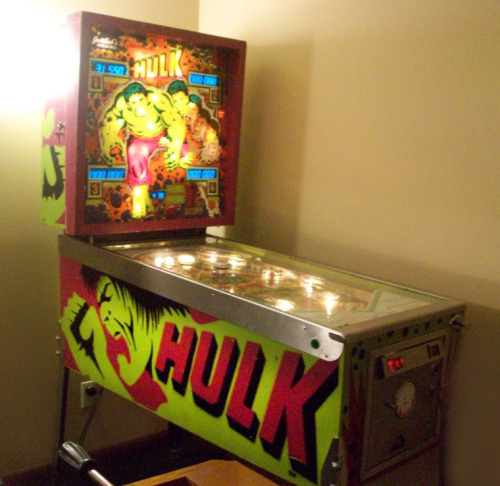 thebattricycle:   || Epic Hulk pinball machine @ a house party I was at.