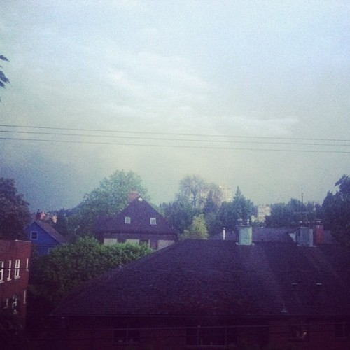 Yann Tiersen pandora and watching the storm. ☔ (Taken with instagram)
