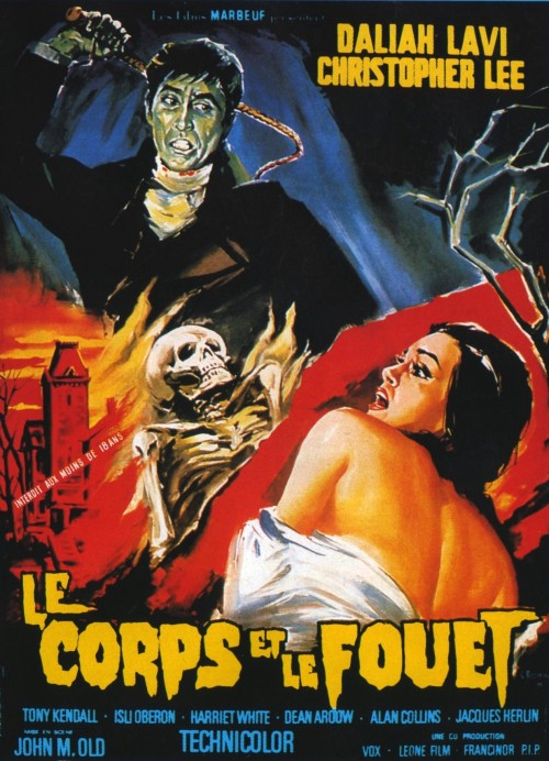French poster for Mario Bava's The Whip And The Body (1963)