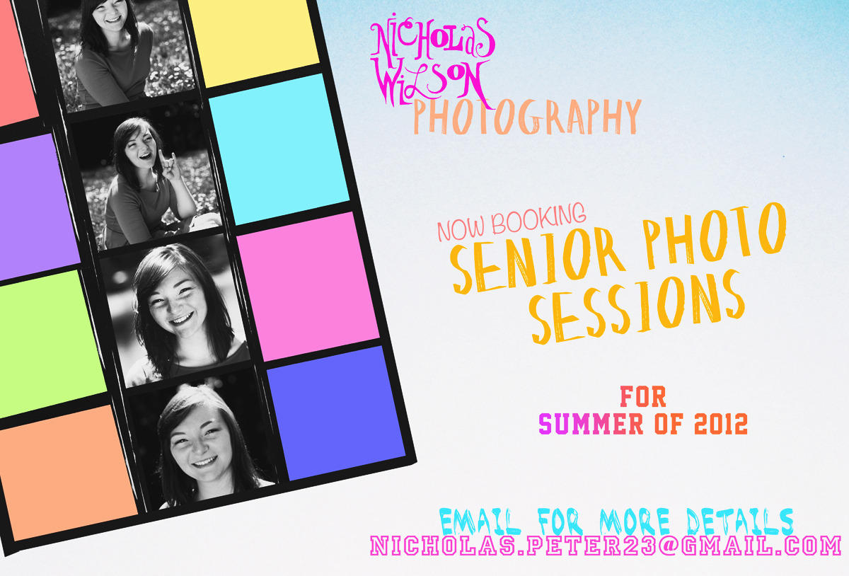 SENIOR PHOTO SESSIONS FOR SUMMER 2012   Currently only taking bookings for clients in the Portland, OR area