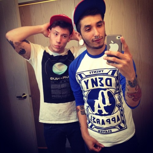 robonmyknob:  Reppin Deny Apparel @denyross and @tattedyouth is Reppin Uranus. (Taken with instagram)  Astrology mother fucker.