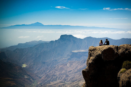 At Roque Nublo, viewing Teide at Tenerife by 45Photos on Flickr.You and me -someday. Under pressure but under love at the same time.
