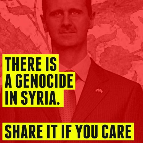 There is a GENOCIDE in Syria.