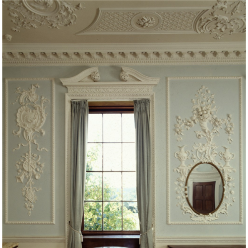 a-l-ancien-regime:  Farnborough Hall Decoration on the south wall of the dining room at Farnborough Hall