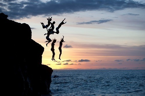 33. Go cliff diving.