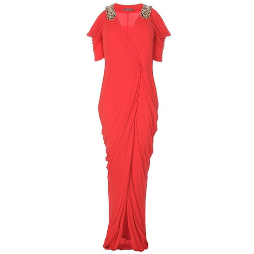 The Best Red Dress highlights Greek Style