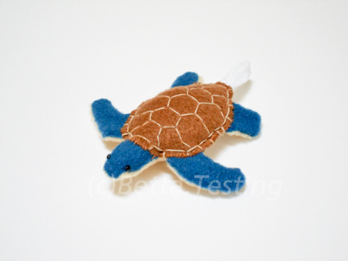 Sea Turtle (Brown Shell) Materials: Arctic fleece, polyester stuffing Dimensions: Length - 3 inches, width - 3.25 inches ————— Currently available in my Etsy shop! http://www.etsy.com/listing/100736746/keychain-sea-turtle-brown-blue This item is made to order! Please email me if you are interested :)