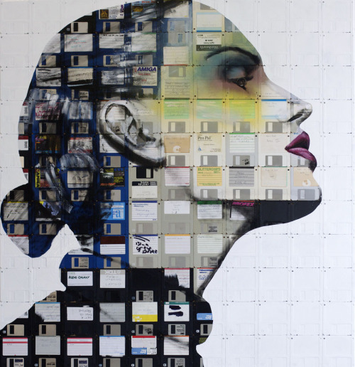 Nick Gentry and floppy disk art