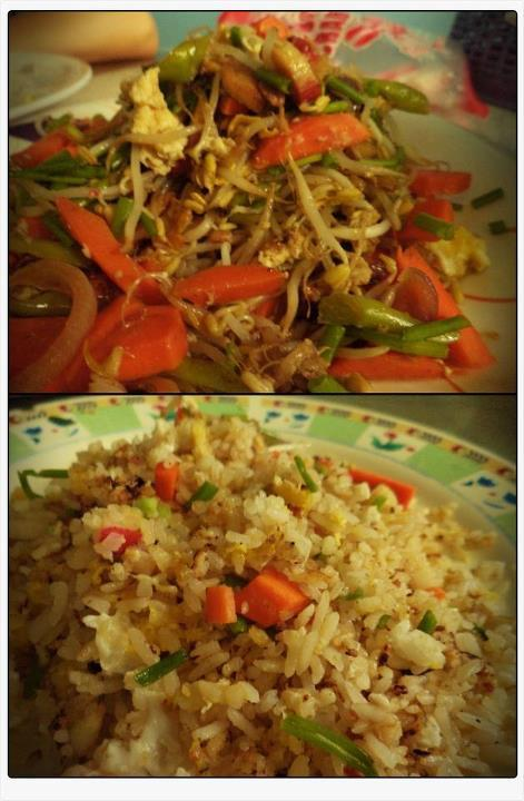 Pad Thai and Yang Chow Rice w/ Crabsticks <3