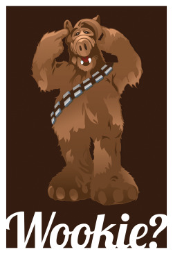 "eatsleepdraw:  Wookie? by Ninjabot This print is now for sale for $20 for a 13""x19"" at TheNinjabot.com Follow us on Tumblr, Twitter, Facebook, or Instagram @theninjabot"