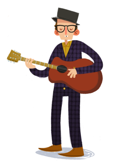 eatsleepdraw:   Elvis Costello I'm over here!