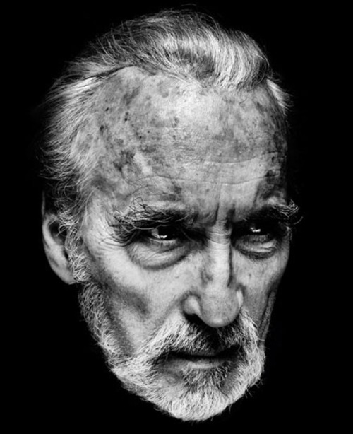 monstercrazy:  Sir Christopher Lee turns a glorious 90 years old. Photograph by Nadav Kader. Happy Birthday, Christopher Lee