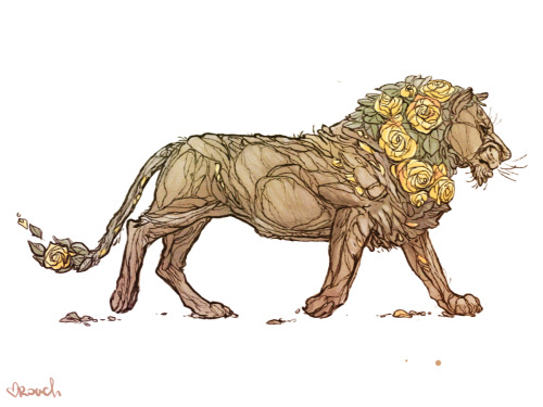 rachelroach:  Flower Lion