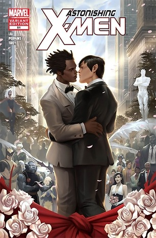 chicandgeek:  superheroobsession:  Marvel Comics Hosts First Gay Wedding in 'Astonishing X-Men'Read more: http://www.rollingstone.com/culture/news/marvel-comics-hosts-first-gay-wedding-in-astonishing-x-men-20120522#ixzz1w3KGH2l5