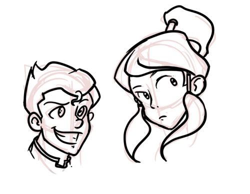 Just a quick doodle to see what Korra and Bolin might  look like in a Ghibli flick.