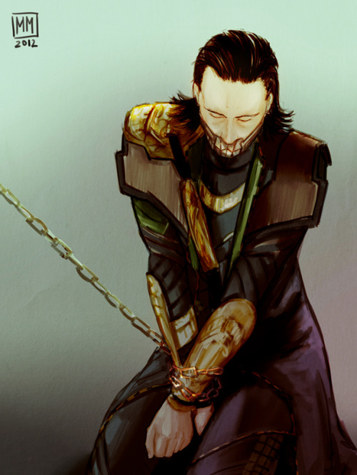duckydoom:  It hurts me to see Loki hurt, but wow. This is an absolutely beautiful piece. Everything about it is lovely. I am impressed with the emotional depth that was managed. The shading, lines and detailing are realistic and eye catching. There is so much i wish to say about it but I will let you make up your own thoughts. Don't forget to go to the link and praise the artist on DevArt if you can. I am sure they would love to hear from you. Obeyance by ~MadMoro