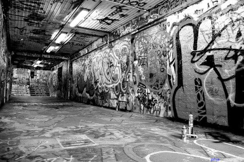 iamtef1:  Graffiti Tunnel B&W by AnglerFliX on Flickr.