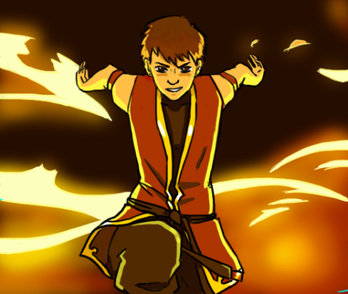 A firebender-version of notime4inspiration with a very-ripped-off-but-very-bad-ass pose. :{D>