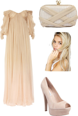 ^^ by shilky featuring high heel pumpsAlexander McQueen long dress, $8,255Steve Madden high heel pumps, $100Lambskin handbag, $634