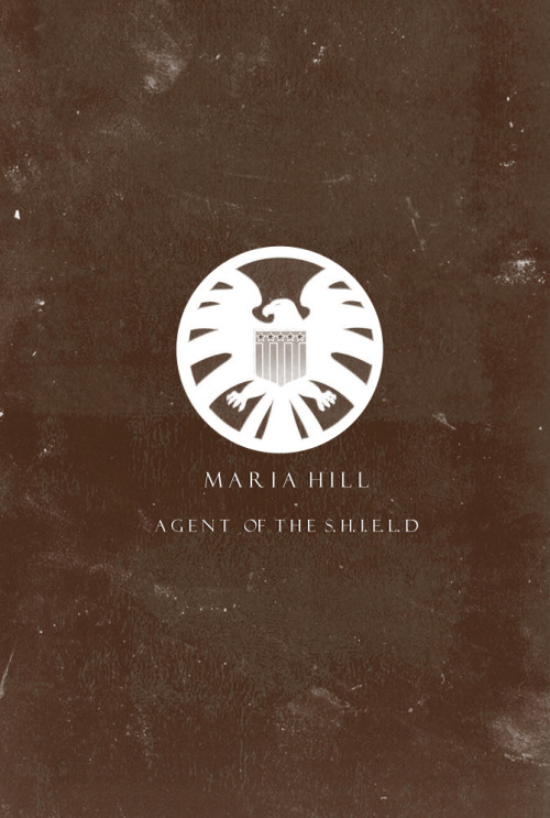 The Avengers Characters Minimalist Posters→ Maria Hill: Agent of the S.H.I.E.L.D.