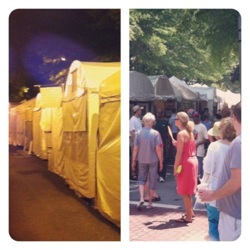 Same block, Friday night :: Saturday morning #decaturga (Taken with instagram)