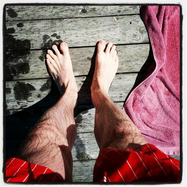 First dip of the year!  (Taken with instagram)