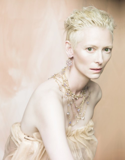 """Beauty is a great mystery, impossible to describe with words. Tilda is a wonderful woman, of a unique beauty - natural and sophisticated at the same time. An actress, differently from a model, is used to not just being herself in front of a camera; to playing a role, telling a story - and Tilda's magic is her ability to express herself in a hundred different ways.""  - Paolo Roversi on Tilda Swinton"