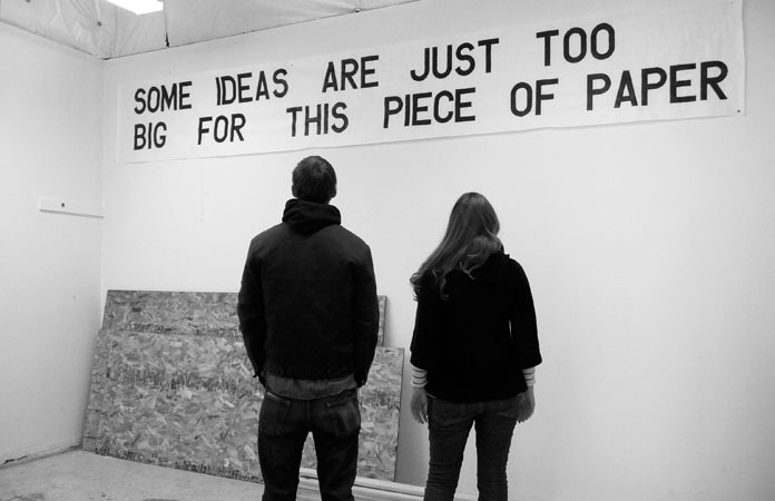 "visual-poetry:  ""some ideas are just too big for this piece of paper"" from the ""100(+) posterworks"" series by anna gray & ryan wilson paulsen"