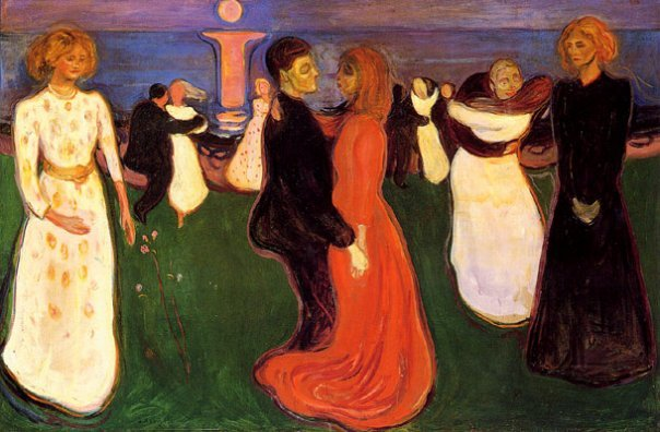 "The Dance Of LIfe. E. Munch     From my rotting body,flowers shall growand I am in themand that is eternity.    ""  Munch"