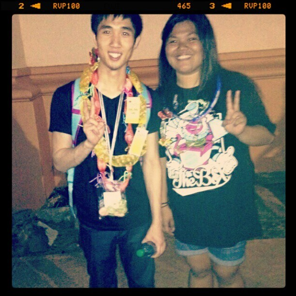 Can from Poreotics came to Hawaii just to watch the concert! :D #Can #Poreotics #hypersquad #concert #InsideTheBox  (Taken with instagram)