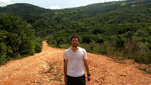 Ben in the Akuapem Hills, Paa Joe's birth place.