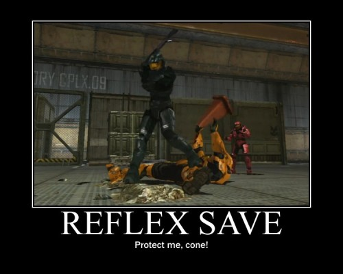 ddemotivators:  Reflex save by Yora (Source)