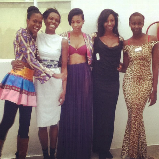 SANAA fashion show fittings. Models wearing Sylvester Falata. #fashion #globalfashion #southafrica  (Taken with instagram)