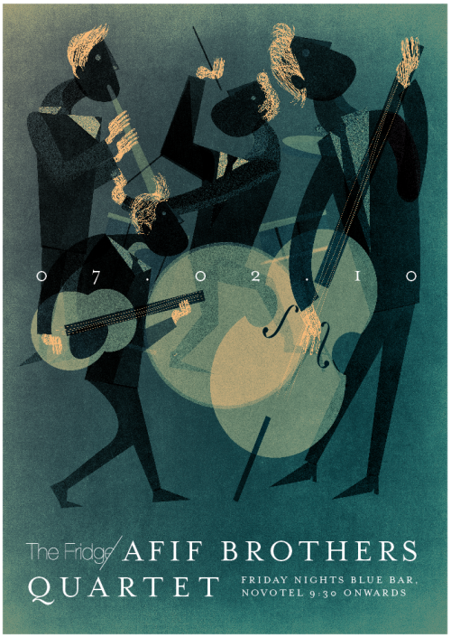 Afif Brothers Quartet, by Dozign.  via andreirobu.