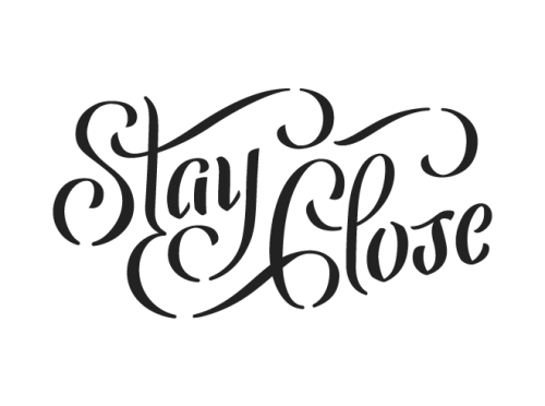 Stay in touch and stay close… typeverything:  Typeverything.com - Stay Close by Bart Vollebregt.