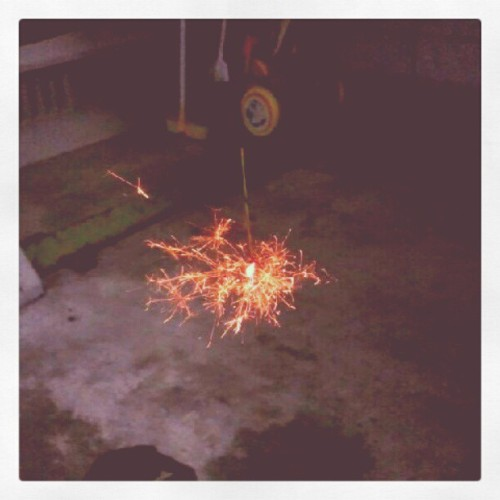 Fire works (Instagramで撮影)