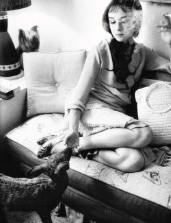theniftyfifties:  Audrey Hepburn with her pet deer.