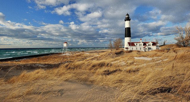 Big Sable Point lighthouse -  Ludington, Michigan by Michigan Nut on Flickr.
