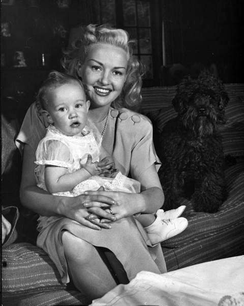 Betty Grable and daughter Victoria- c.1945