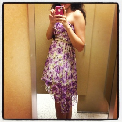 New dress for the wedding!! #pretty #iphone4s #instagram #sweet #cute #wedding #dress #shopping (Taken with instagram)