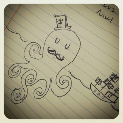 #bored #octopus #doodle  (Taken with instagram)
